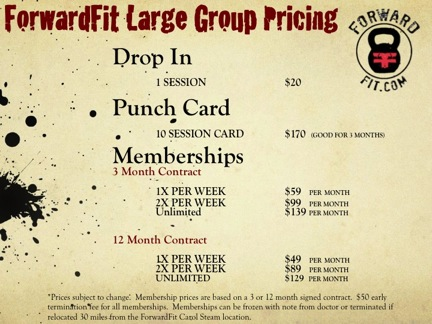 ForwardFit Large Group Pricing