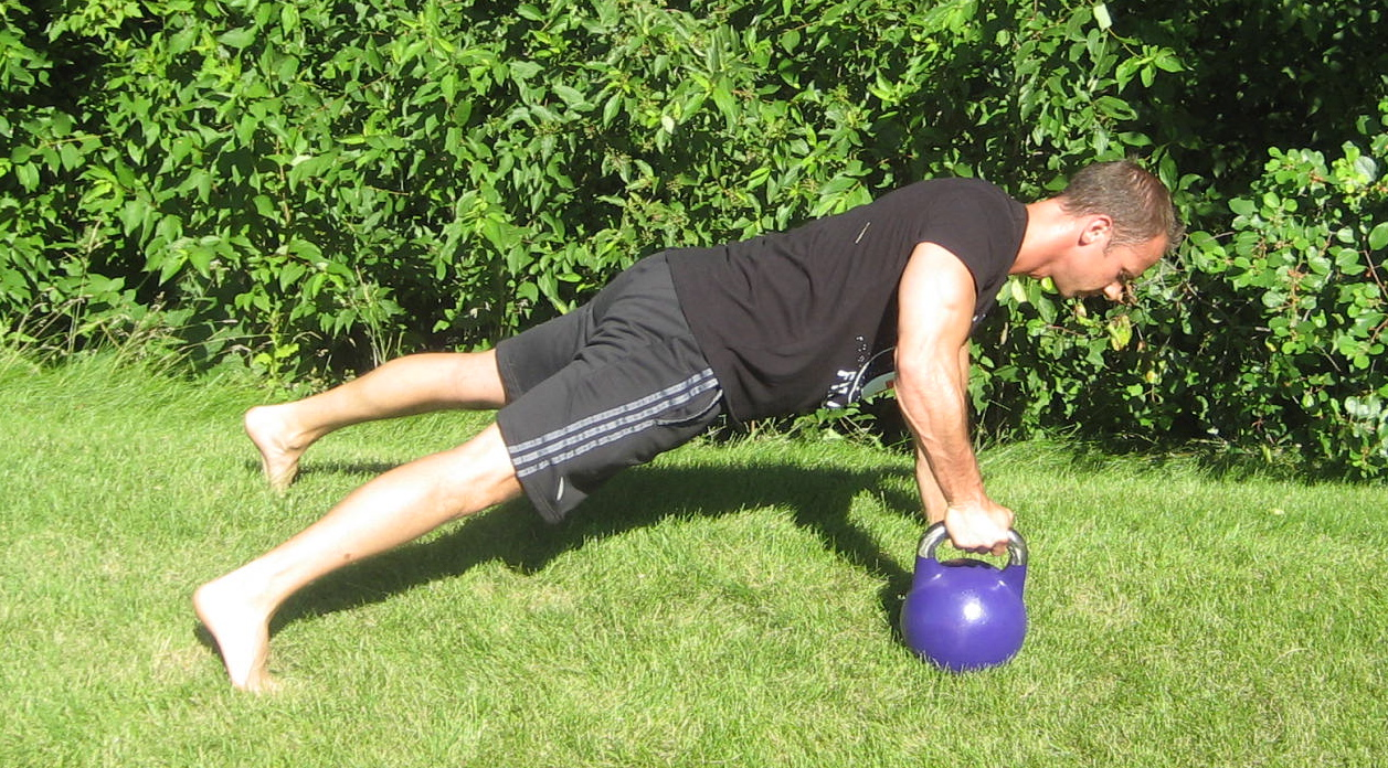 Kettlebell Pushup and Row 1